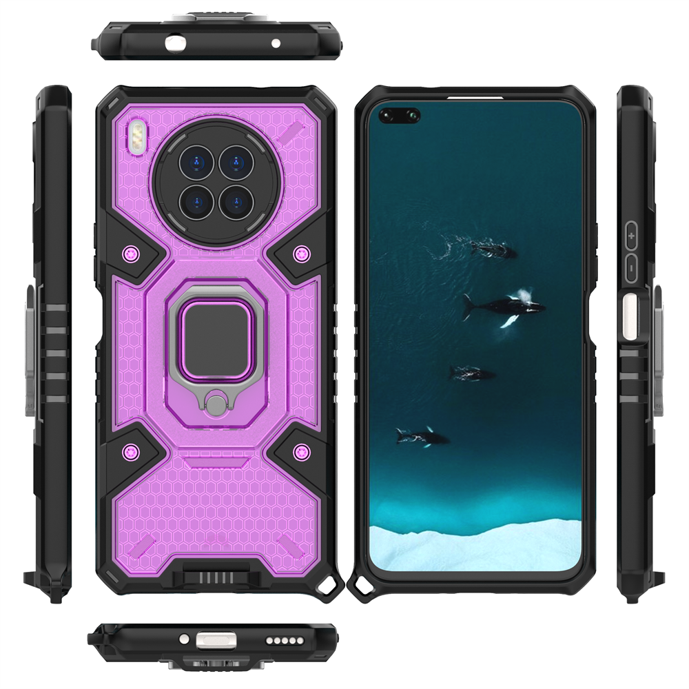 Shockproof Armor Case For Huawei Nova 8i Car Magnetic Finger Ring Holder Business phone Cover For No