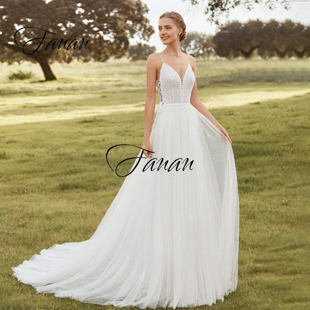 Женское свадебное платье с V-образным вырезом, V-образным вырезом