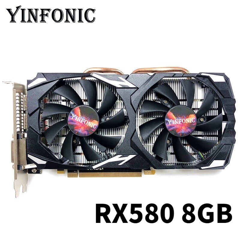 Mining Video Card RX 580 8GB 256Bit 2048SP GDDR5 Graphics Cards for AMD Radeon RX 580 series VGA Cards RX580 8g For Mining