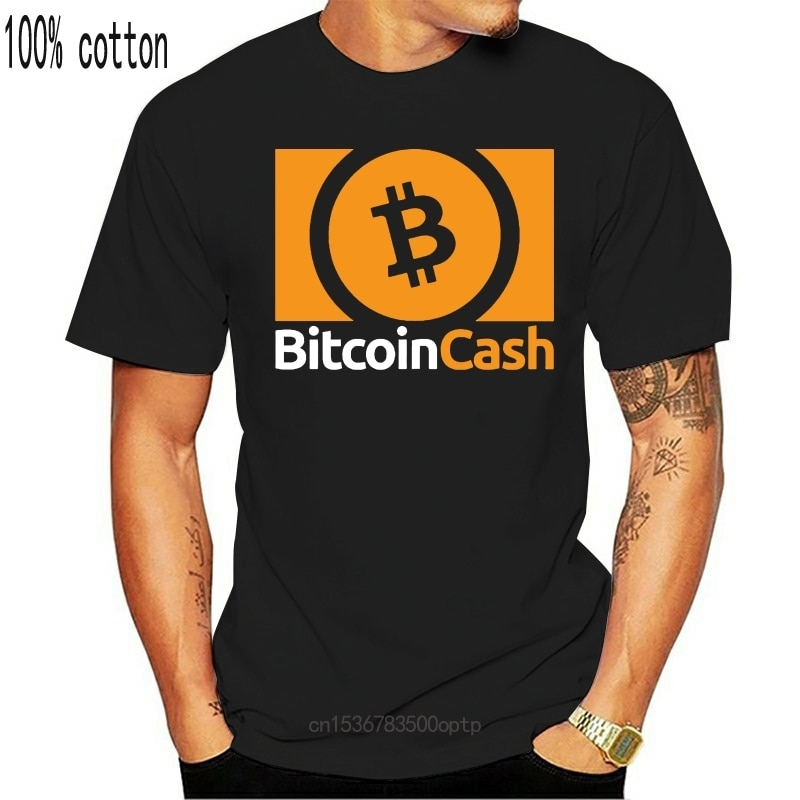 New Bitcoin Cash BCH Cryptocurrency Logo Tops Tee T Shirt Crypto Hodl S-XXL Wholesale O Neck T-Shirt