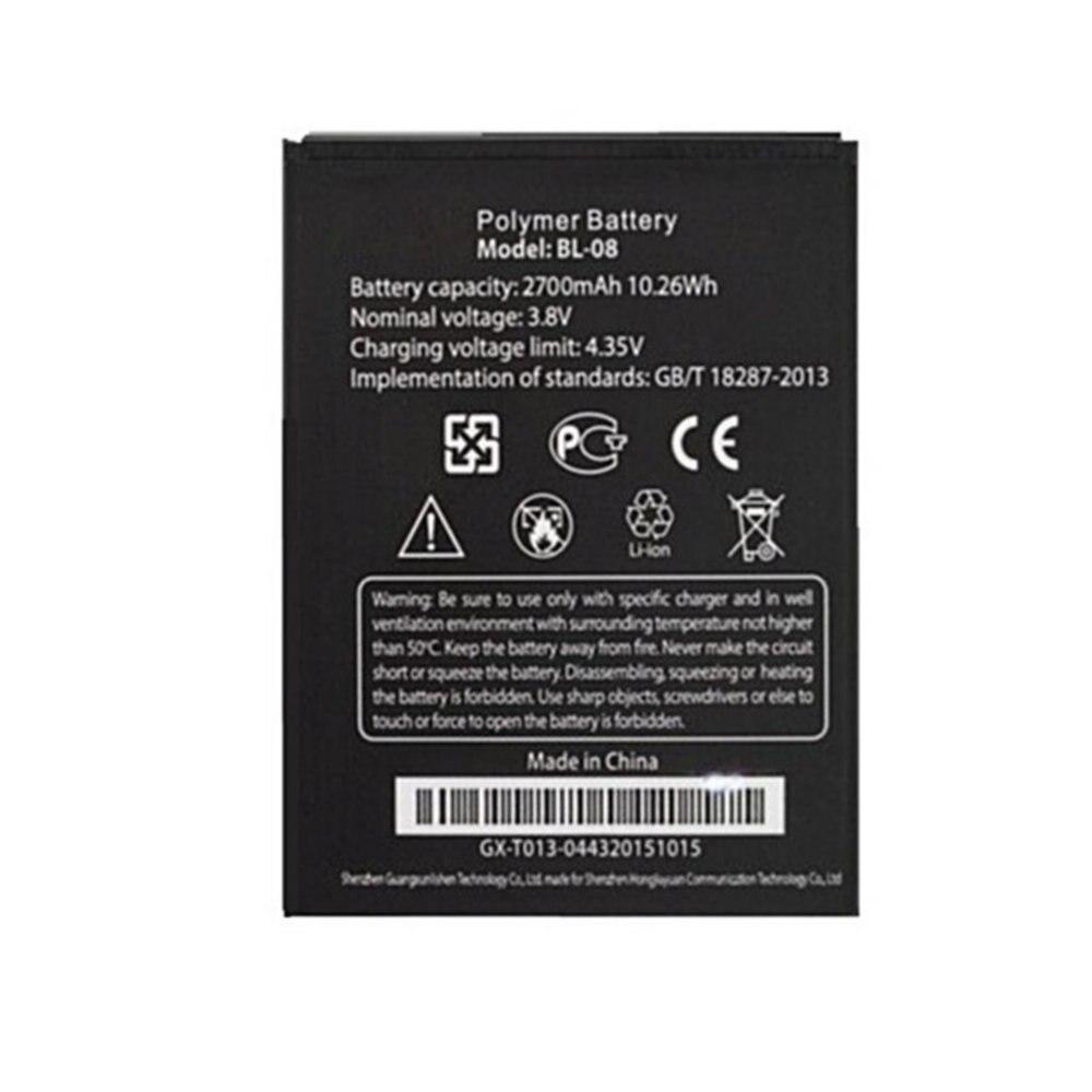 Bateria original 2700mah 10.26wh 3.7v BL-08 da substituição do tamanho para thl 2015 para baterias do telefone celular de thl 2015a