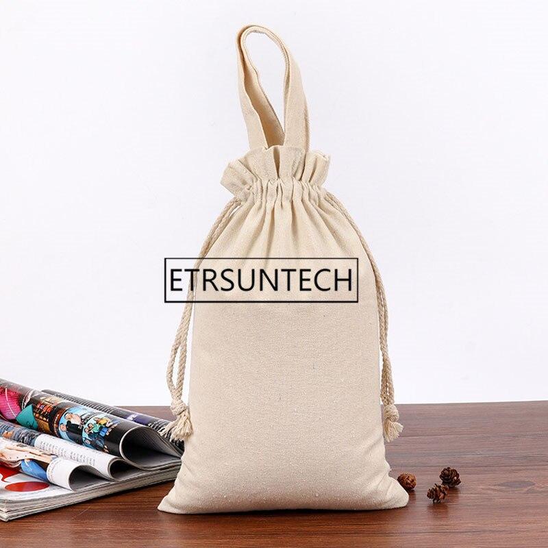 Bolsa de almacenamiento con cordón de tela de algodón de 50 Uds., ropa interior para alimentos, calcetines, organizador de joyas, soporte de cocina para harina de arroz ecológico