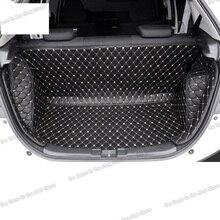 Lsrtw2017 fiber leather car trunk mat rear seat mat for honda fit 2014 2015 2016 2017 2018 2019