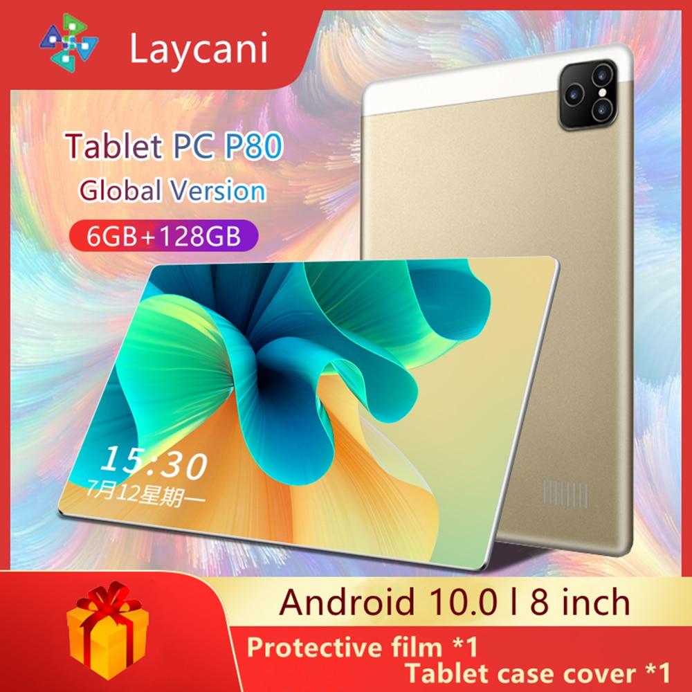 Планшет P80, телефон 8 дюймов, планшет android 10 core, смартфон планшет 6 ГБ + 128 Гб wifi планшет Android 10,0, распродажа планшетов