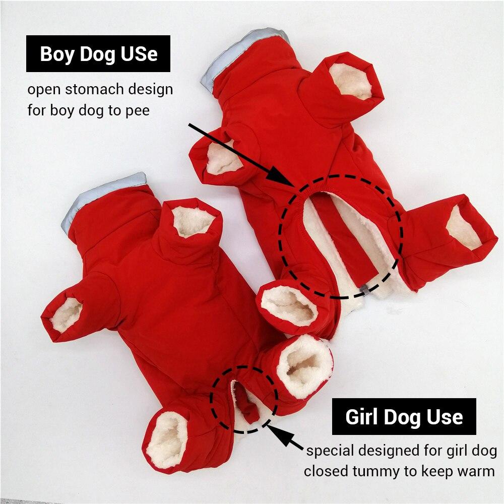 Зимние комбинезоны для собак, теплые водонепроницаемые брюки, Мужская/женская одежда для маленьких собак, светоотражающая пуховая куртка для щенков-1