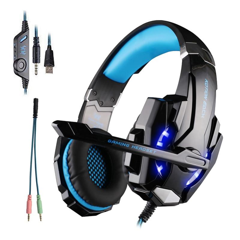Computer PC PS4 Headset Gaming Headset Gamer Kopfhörer Led Gaming Kopfhörer Mit Mikrofon Für Computer PlayStation 4 Tablet PC