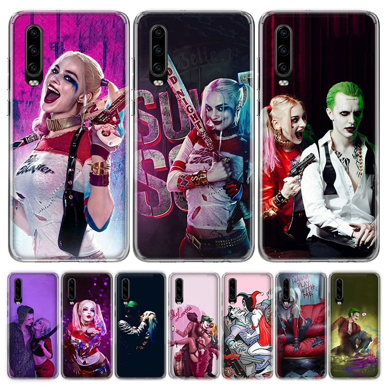 Suicide Squad Joker Harley Quinn Phone Case For Huawei Honor 9 10 20 Lite Pro V20 V30 7C 8C 7A 8A 7X 8X 9X Y5 Y6 Y7 Y9 2018 2019