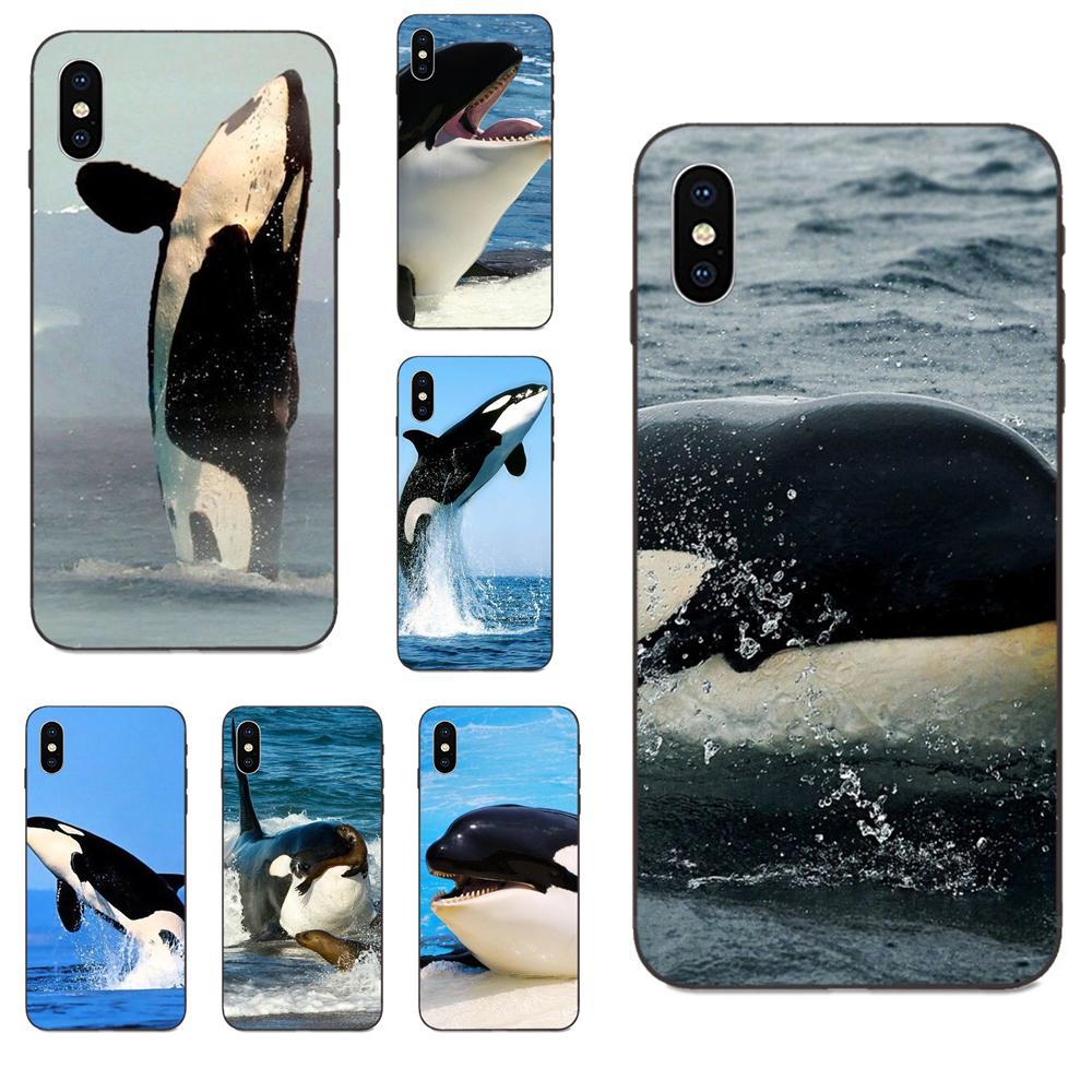 Mar Animal Orca oferta especial Vertical para Galaxy A8 A9 estrella Nota 4 8 9 10 S3 S4 S5 S6 S7 S8 S9 S10 borde Lite Plus Pro G313