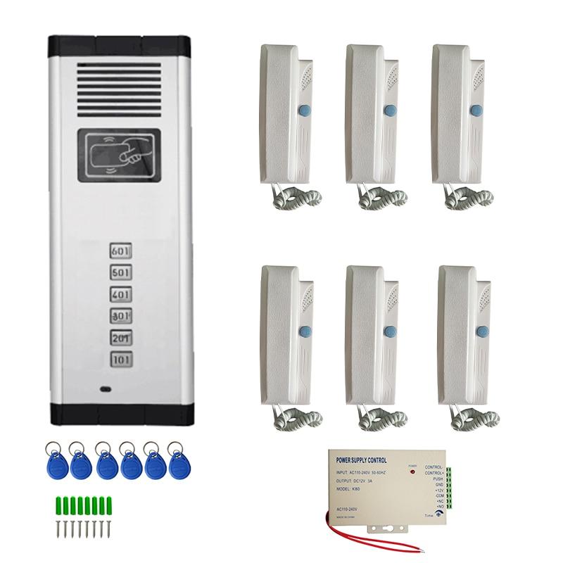 Vigtech الصوت بناء إنترفون نظام الهاتف الهاتف مع 2-سلك ل الشقة No والبصرية جهاز متعددة زر