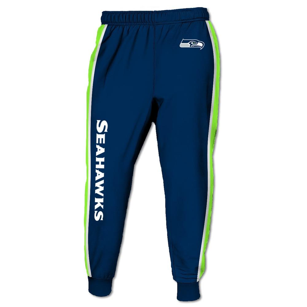 Pantalones de chándal Redcats cool para hombre Seahawks azul marino verde costura seabird head print 3D pants