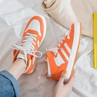 brand 2021 fashion sneakers high top women shoes solid lace up platform sneakers canvas breathable zapatos de mujer high quality