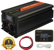Inverter ladegerät wireless Converter Power Inverter 3000/6000W Modifizierte Sinus Welle Inverter 12V 220V LCD fernbedienung control Display