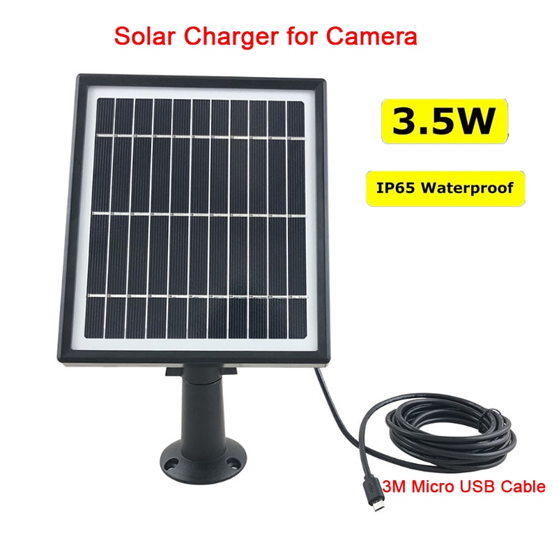 High Efficient Monocrystalline Solar Panel Waterproof Micro USB Tablet Solar Charger Pane for Camera Surveillance Security