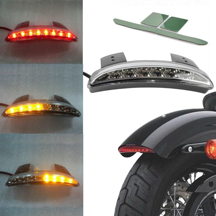 Заднее крыло мотоцикла, задний край, светодиодный задний стоп-фонарь, светильник сигнала поворота для Harley Sportster XL 883 1200, прозрачные линзы