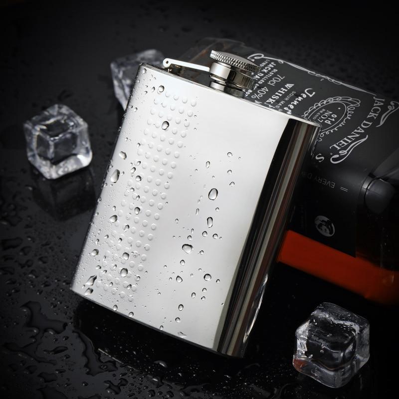 Frasco de acero inoxidable portátil para hombres, frasco plano personalizado para exteriores,...