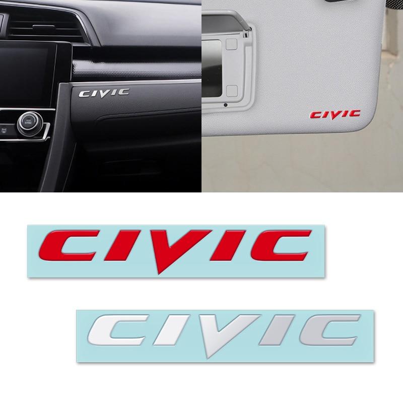 Estilo do carro de níquel metal emblema do carro adesivos decoração decalques para honda civic mugen accord odyssey jazz crv apto acessórios