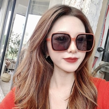 Sunglasses Women Big Square Frame Sun Glasses Men Luxury Designer Female Eyeglasses Vintage lunette
