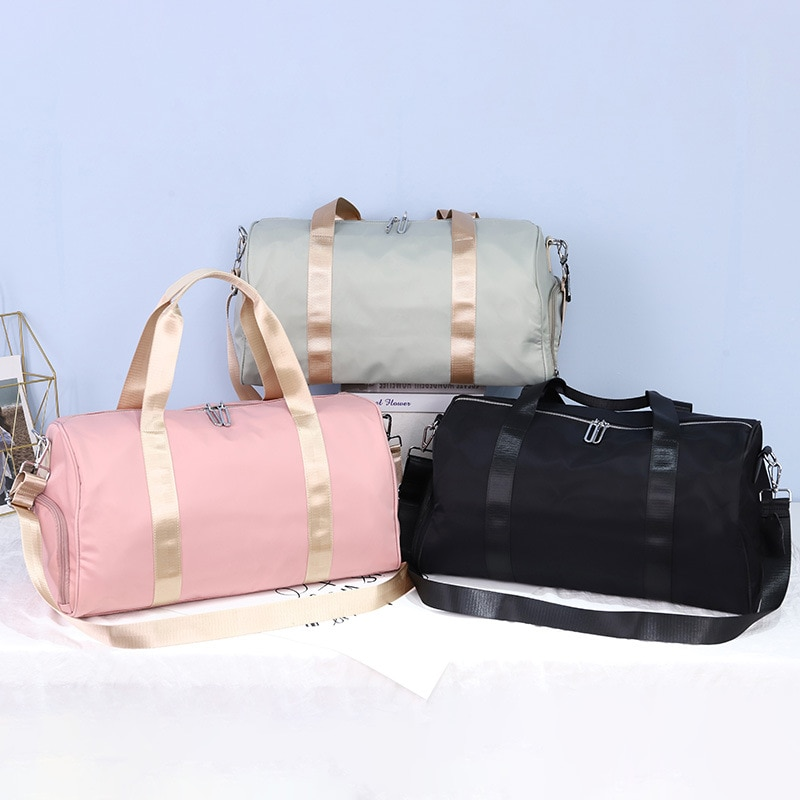 Sports fitness bag women's bag large dry wet separation short distance travel hand luggage bag waterproof swimming Yoga Bag