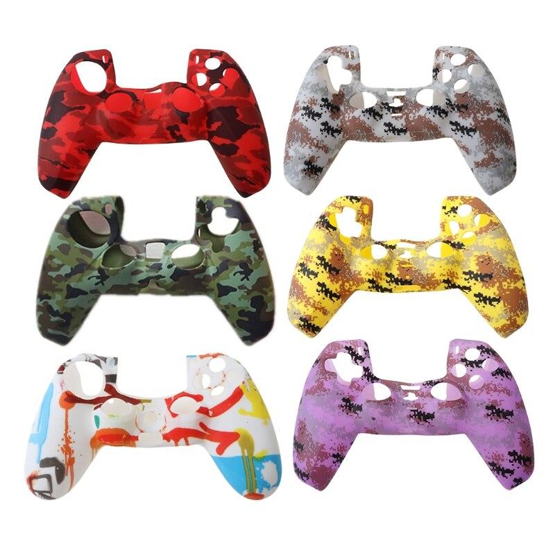 Funda de silicona con mango de colores para mando de Sony, PS5...