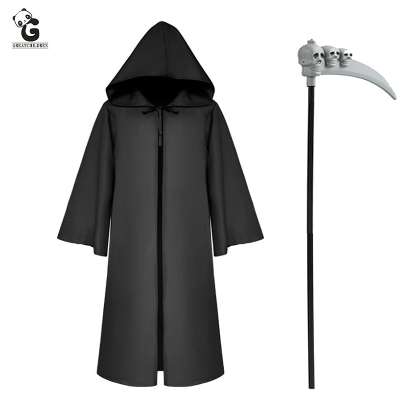 Grim Reaper Costumes Skull Hook Sickle Cosplay Final Destination Carnival Halloween Costumes for Wom