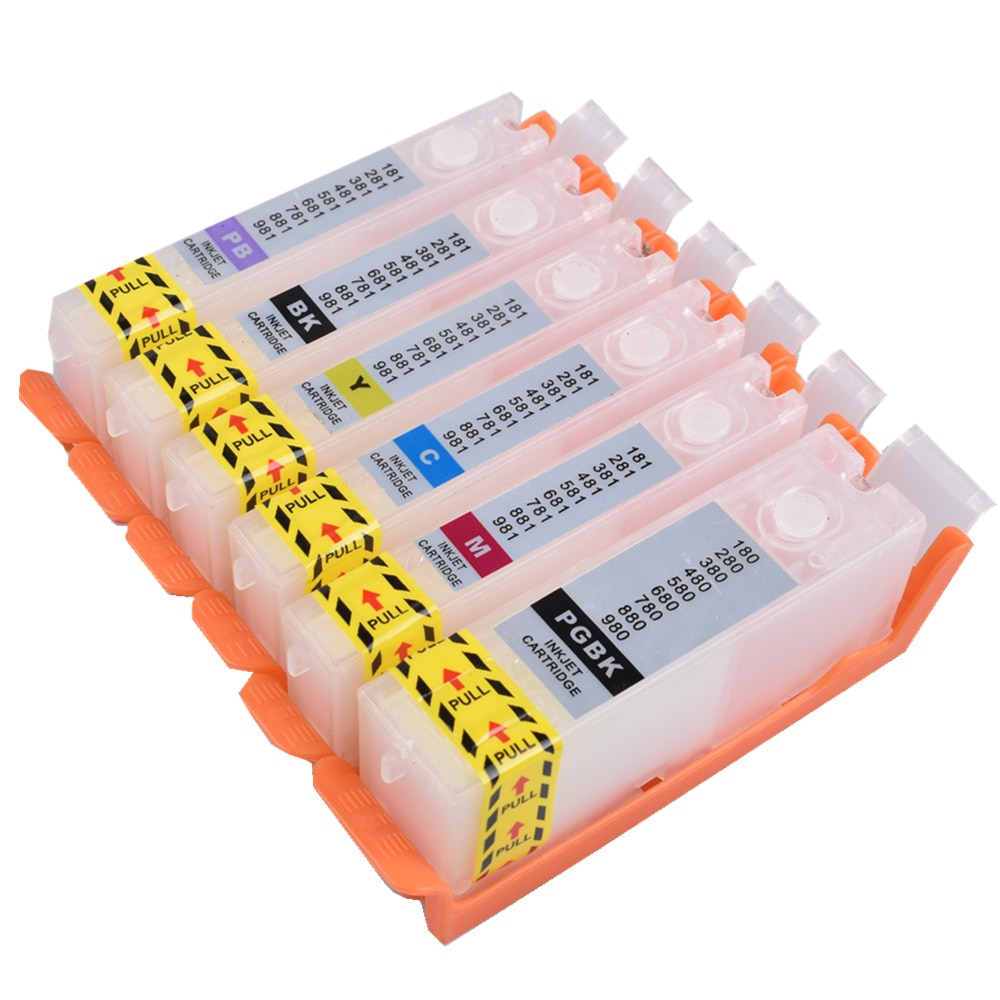 Chip permanente de cartucho rellenable PGI 680 681 XXL para impresora Canon PIXMA TS8160 TS9160 TS8260