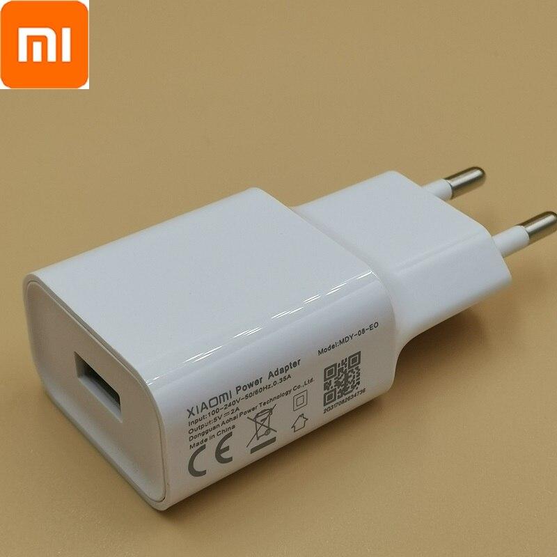 Cargador Original XIAOMI 5V 2A Cable blanco de sincronización de datos para Redmi 4 4A 4X 5 3 3s Note 3 4 4X 5 6xiao Mi 4 note7pro