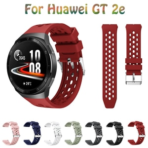 22mm Soft Silicone Strap for Huawei Watch GT 2e Watchband for SmartWatch Original Bracelet Wristband For Huawei gt2e Accessories