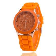 Hot selling watch silica gel Geneva watches quartz watch Diamond Men's watch women's watches