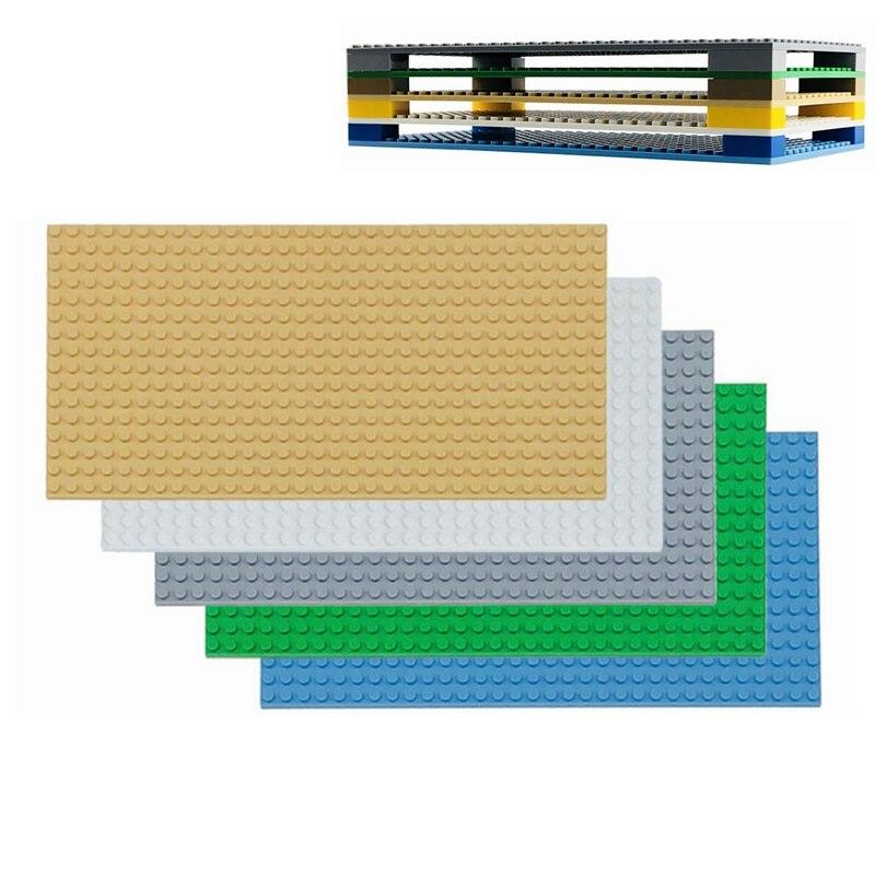 Plaque de Base Double côtés plaques de Base pour chiffres blocs de construction jouets pour enfants ville plaques de Base enfants cadeaux 25.5*12.8 cm plaque