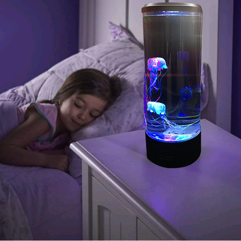 Jellyfish Bedside Lamp Desktop Atmosphere Color Changing Childen Table USB Powered LED Night Light Hypnotic Relaxing Kids Gift enlarge