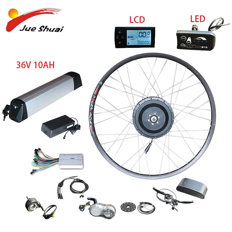 Conjunto de conversión a bicicleta eléctrica, motor de rueda delantera de 36V...