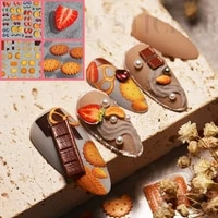 food nail sticker 3d self adhesive nail art decals cracker fruit series manicure supplies tips for finger toe nail accessories