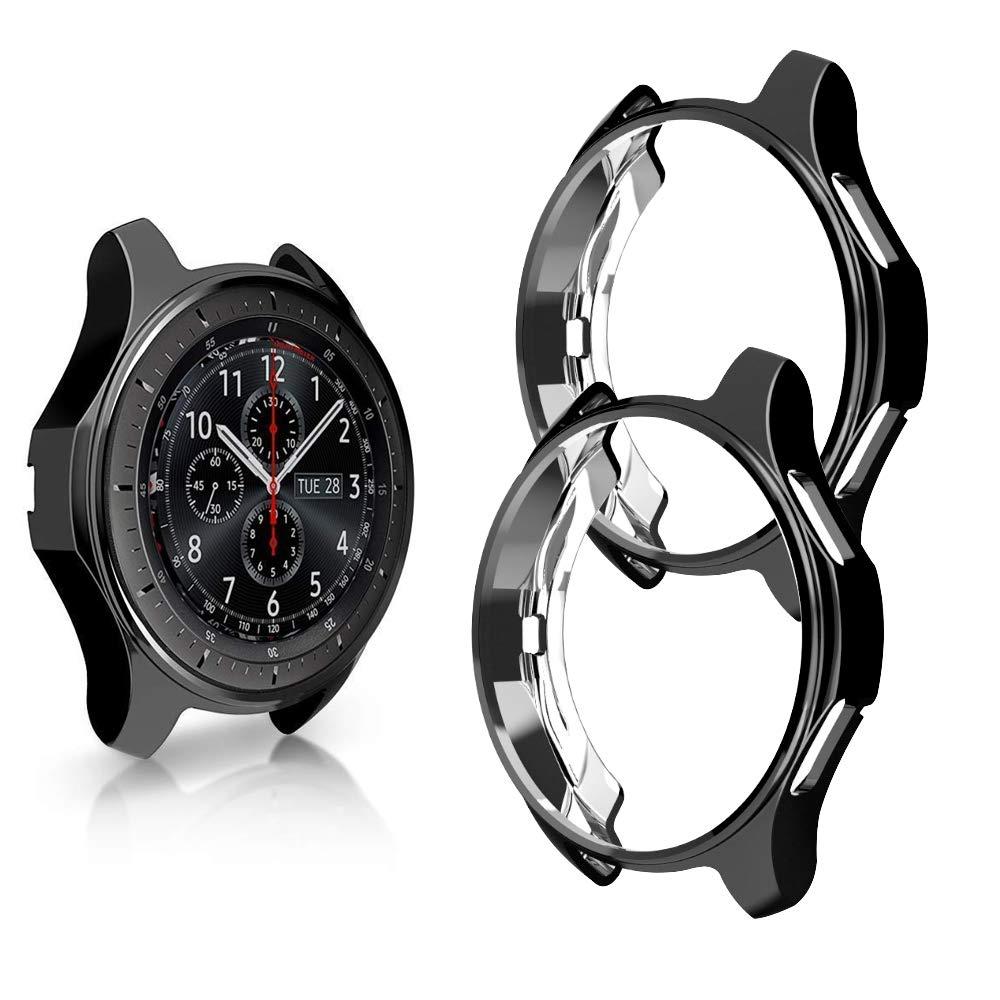 Capa protetora para galaxy watch, case protetor tpu para huawei watch gt 46mm 42mm active 2 gear s3 frontier 1 2 tampa da caixa do relógio