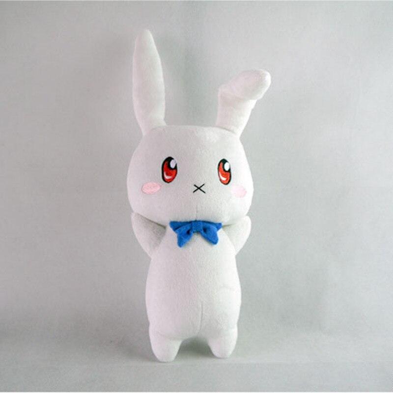 Menina mágica lírica nanoha vívido brinquedo de pelúcia anime takamachi vivio coelho chris enchido boneca 38cm para o presente
