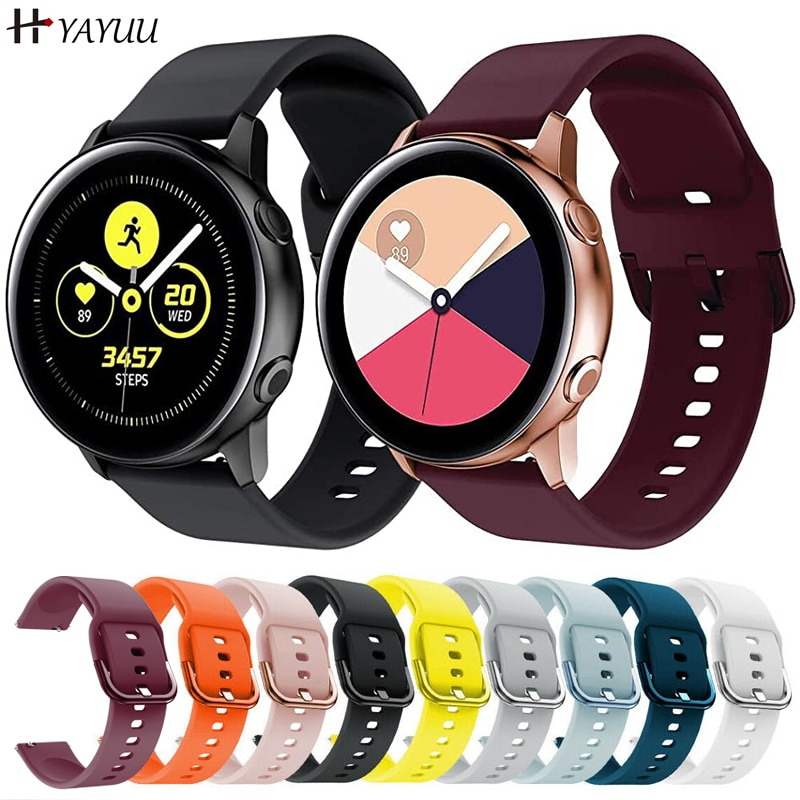 YAYUU Silicone Original Watch band For Samsung Galaxy watch 3 41mm/Galaxy Active 2 40mm 44mm/Gear S3 Frontier Classic Bracelet