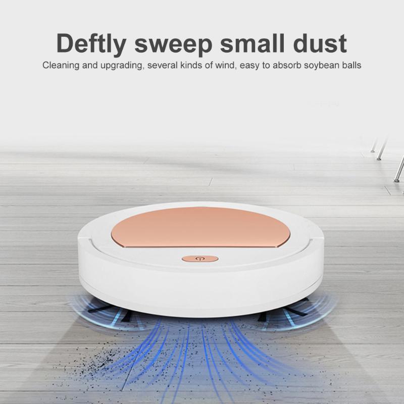 Robot aspirador de limpieza recargable, práctico, con USB, para barrer, limpiar, limpiar, lavar y limpiar, de forma automática, para el hogar