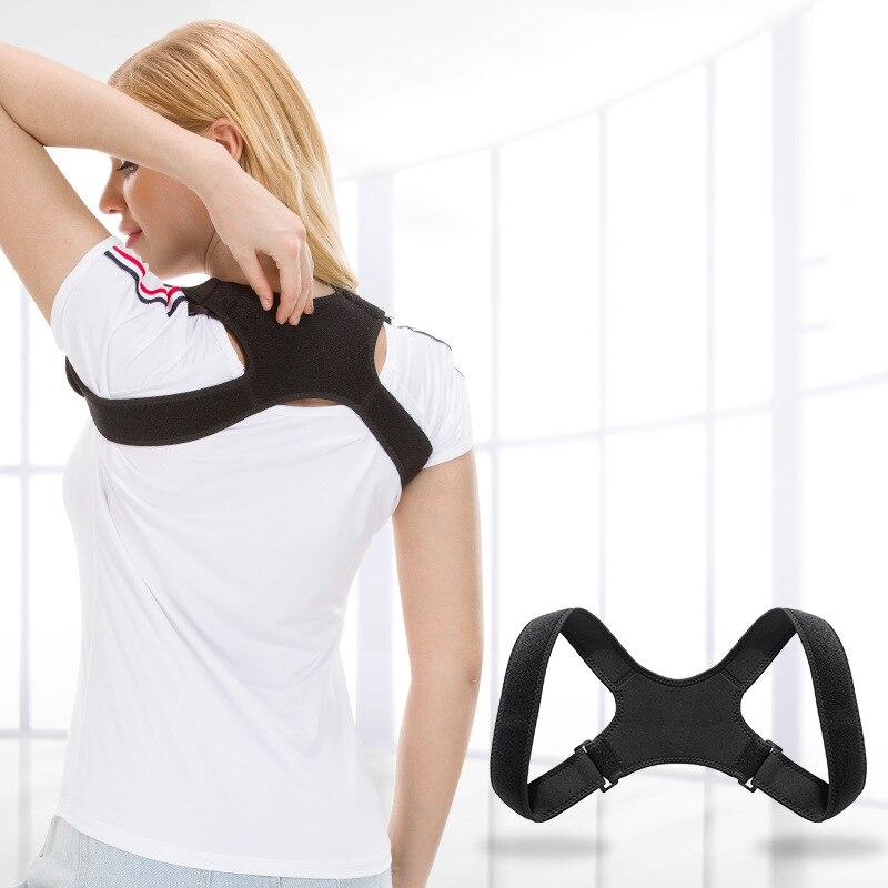 CANFU Adjustable Back Support Belt Posture Corrector Shoulder Lumbar Braces Correc