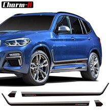 Auto Styling Tür Side Stripes Rock Racing Aufkleber M Leistung Körper Aufkleber Für BMW X3 M G01 F25 Aufkleber Zubehör