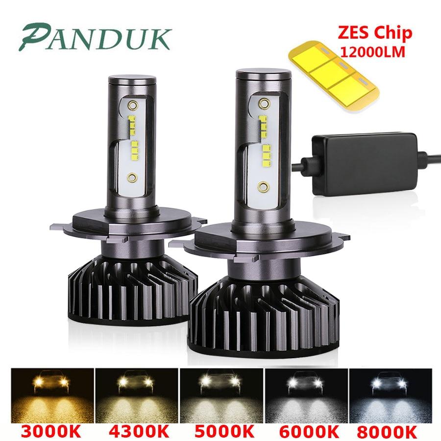 PANDUK H7 LED H4 H11 H8 H1 HB3 9005 LED 9006 HB3 Canbus bombilla del faro luz del coche ¿Es 12000LM 72W 80W 4300K 6000K 8000K lámpara 12V