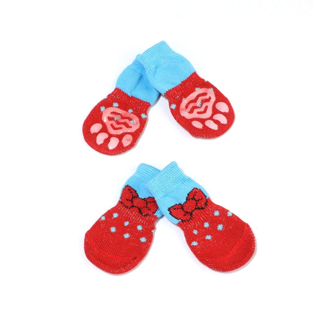 4 vnt / rinkinys mielų šuniukų šunų megztų kojinių mažiems - Naminių gyvūnėlių produktai - Nuotrauka 4