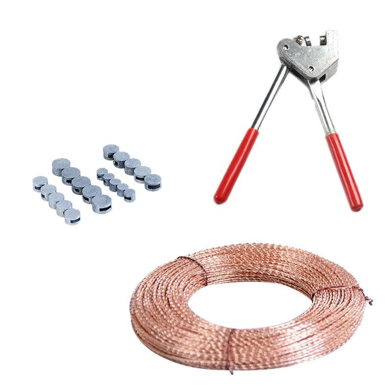 Offre spéciale 22 pièces/ensemble pince 20 pièces 7/8/9/10Mm haricots scellés avec 30M fil détanchéité