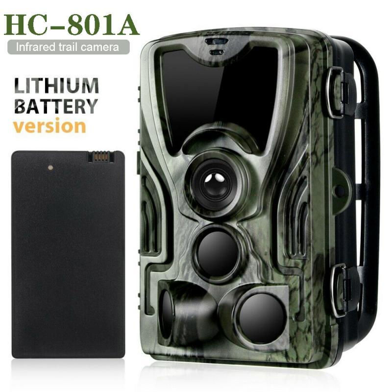 HC801A cámara de caza 5000Mah li-battery 1080P 16MP 32GB/64GB IP65 trampas para fotos 0,3 s tiempo de disparo 940nm Cámara salvaje 8