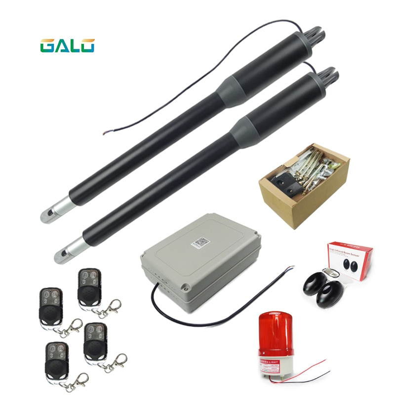 Free Shipping 200KG Electric Swing Gate Opener Arms  with Remote Control Optional Home Garage Swing Door Operator Motor Actuator