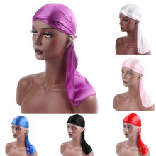Silk Turban Pirate Hat Unisex Muslin Hijab Cap Multi Color Bandana Durag Headwear Soft Pirate Cap Wr