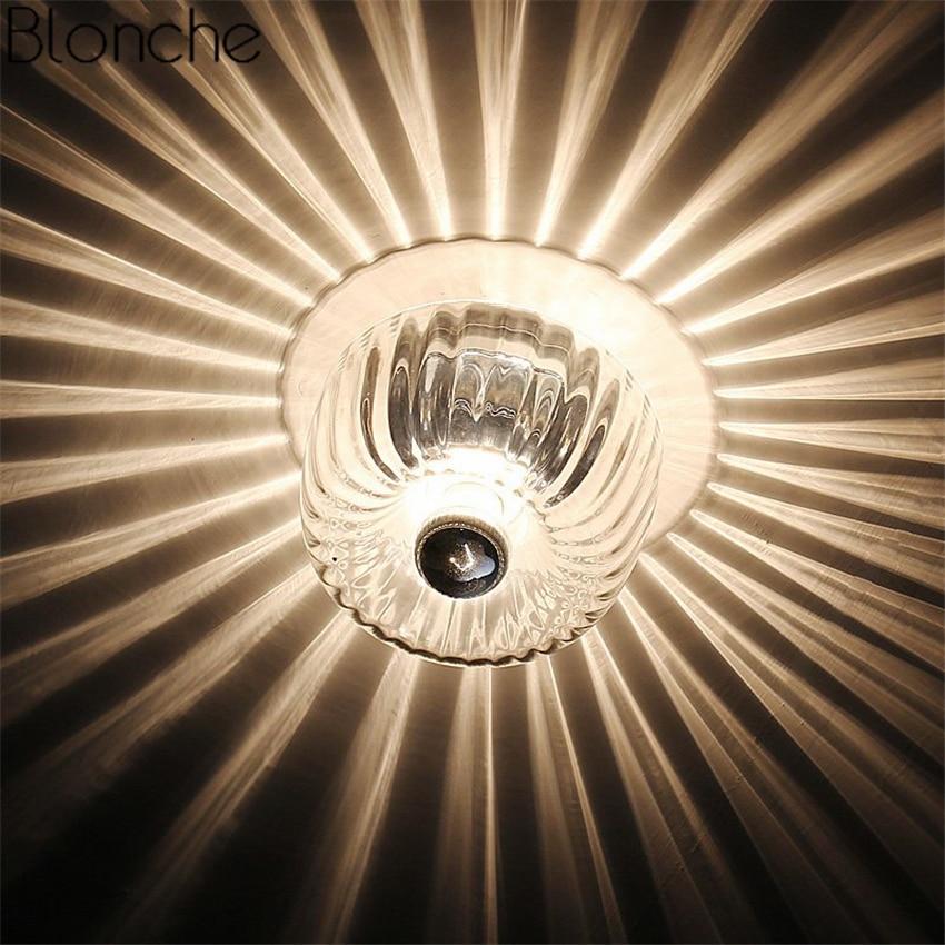 lampada do teto de vidro moderno led sombra luz de teto luminarias para casa sala