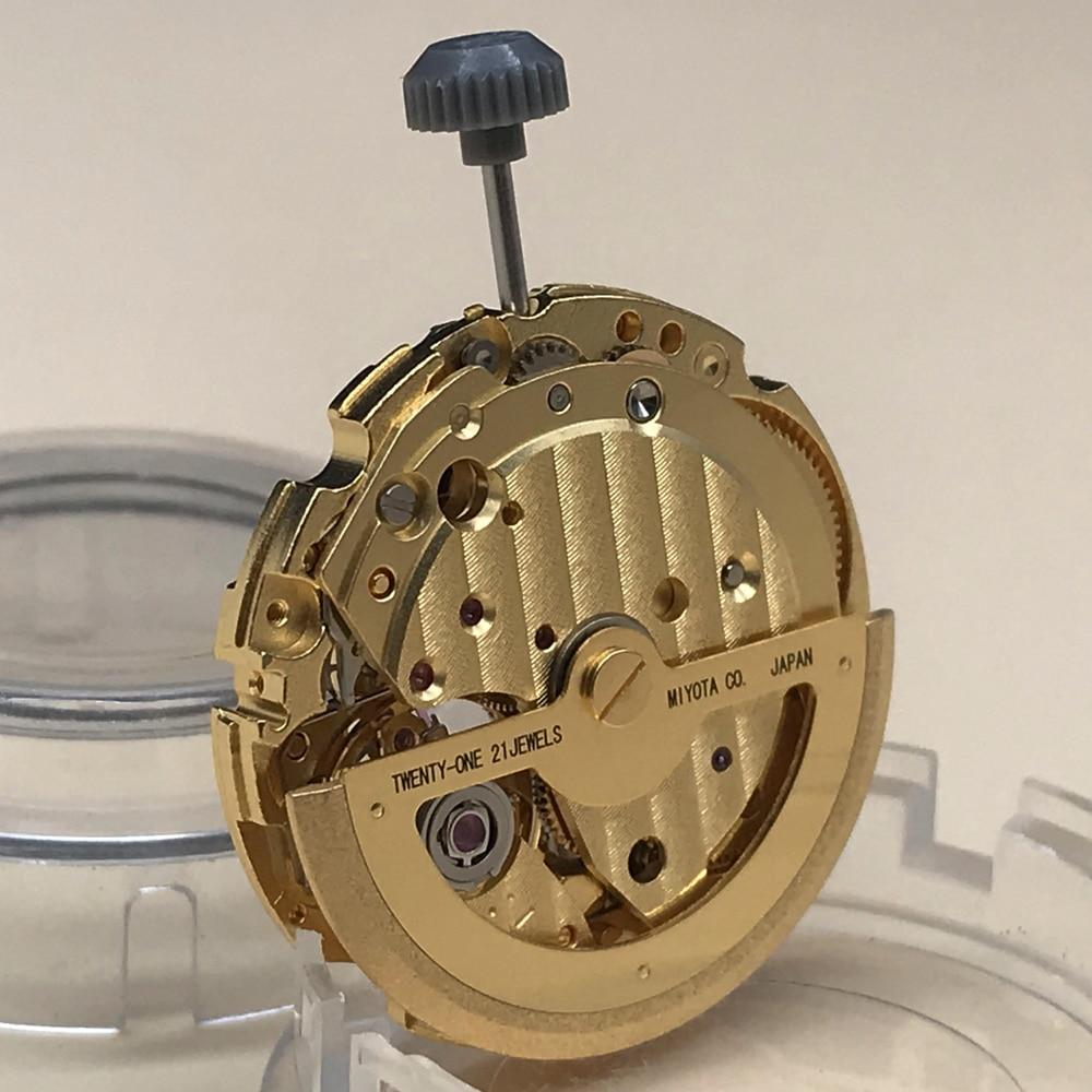 Japan Original Miyota 82S7 Automatic Manual Winding Movement 24H Subdial Skeleton Men Brand Wristwatch Replacement enlarge