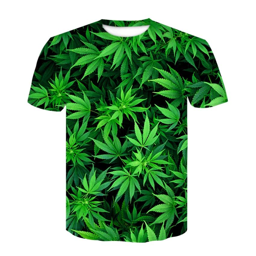 Camisetas de marca para hombre, camiseta Weeds, camiseta de trébol verde, partes de arriba de hojas, camisetas, ropa para hombre, camisetas Sexy 3d Unisex