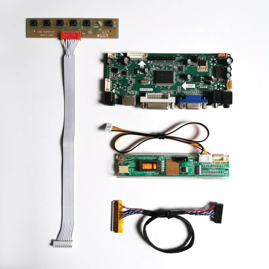 "Para b154sw01 v7 v8 mnt68676 display controlador de unidade cartão vga hdmi dvi 15.4 ""1680*1050 ccfl lvds 30pin lcd monitor painel kit diy"