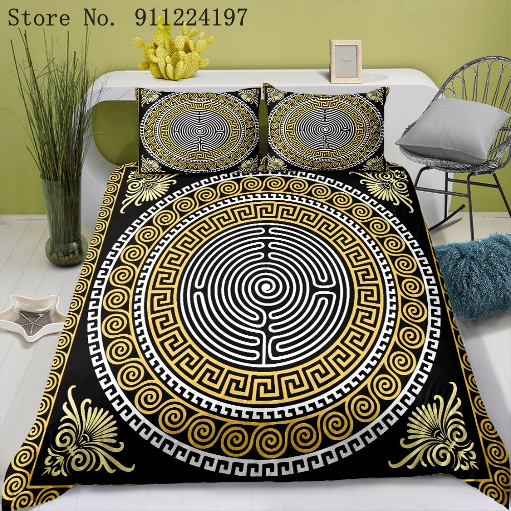 Luxury Duvet Cover Sets Fashion Bedding Set Black And White Print Quilt Cover Single Double Queen King Size Adult Bedclothes