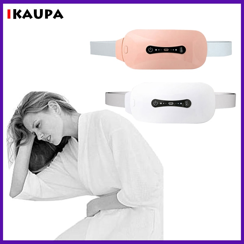 Menstrual Heating Pad Women Relief Cramp Pains Electric Cordless Heated Waist Belt Massager Neck Back Belly Pain Relief